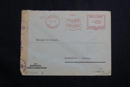 FINLANDE - Enveloppe Commerciale De Helsinki Pour La France En 1943 Avec Contrôle, Affranchissement Mécanique - L 61079 - Lettres & Documents
