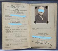 Sprimont - Carte De Déporté - Ministère De La Reconstruction - Pour La Période: 1943-1944 - 2 Scans. - Cartes