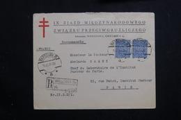 POLOGNE - Enveloppe En Recommandé De Warszawa Pour La France En 1934, Affranchissement Plaisant - L 61092 - 1919-1939 République