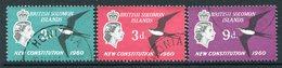 British Solomon Islands 1961 New Constitution Set Used (SG 97-99) - Islas Salomón (...-1978)