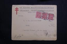 POLOGNE - Enveloppe De Warszawa Pour Paris En 1921, Affranchissement Plaisant - L 61096 - 1919-1939 République