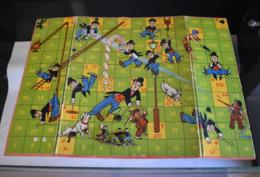 Chasing Charlie Chaplin Jeu D'Echelle / Snake's & Ladders Board Game / 3 Pawn / 1930s Rare - Toy Memorabilia