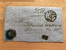 11A Pli De Menin 18 Juillet 1860 > Lille 19 Juillet PD Compagnie Générale Franco-Belge Caoutchouc Durci Et Souple - 1858-1862 Médaillons (9/12)