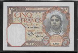 Algérie - 5 Francs - Pick N°77 - NEUF - Algerije
