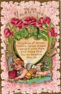 Valentinstag, Amor, Prägekarte, Um 1910 - Saint-Valentin