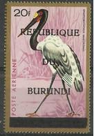 Burundi -  1967 Saddle-bill Stork (Republic Overprint) 20f  MH *  SG 237  Sc C35F - 1962-69: Neufs