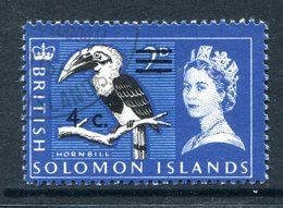 British Solomon Islands 1966 Decimal Currency Surcharges - Wmk. Sideways - 4c On 2d Value Used (SG 138B) - Islas Salomón (...-1978)