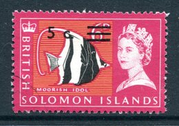 British Solomon Islands 1966 Decimal Currency Surcharges - Wmk. Sideways - 5c On 6d Value Used (SG 139B) - Islas Salomón (...-1978)