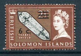 British Solomon Islands 1966 Decimal Currency Surcharges - Wmk. Sideways - 6c On 2½d Value Used (SG 140B) - Islas Salomón (...-1978)