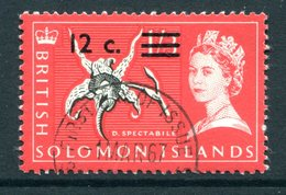 British Solomon Islands 1966 Decimal Currency Surcharges - Wmk. Sideways - 12c On 1/3 Value Used (SG 144B) - Islas Salomón (...-1978)