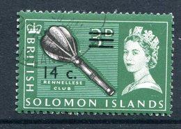 British Solomon Islands 1966 Decimal Currency Surcharges - Wmk. Sideways - 14c On 3d Value Used (SG 146B) - Islas Salomón (...-1978)
