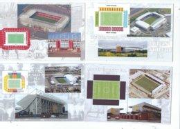 4 POSTCARD OF UK  FOOTBALL LEAGUE STADIUMS  LOT FOUR - Stadiums