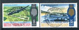 British Solomon Islands 1967 25th Anniversary Of Guadalcanal Campaign Set Used (SG 160-161) - Islas Salomón (...-1978)