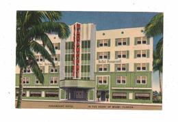 MIAMI BEACH, Florida, USA, Paramount Hotel, ART DECO, Old Linen Postcard - Miami Beach