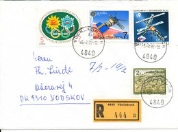Austria Registered Cover Sent To Denmark Vöcklabruck 15-2-1992 With Topic Stamps - 1945-.... 2. Republik