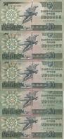 COREE DU NORD 50 WON 1988 VG+ P 30 ( 5 Billets ) - Korea, North
