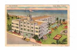 MIAMI BEACH, Florida, USA, The Shoreham Hotel, ART DECO, 1940 Linen Postcard - Miami Beach
