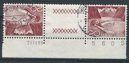 KK-/-191-    Tête-bêche  Avec Pont, N° 485b,  Obl. Avec DATE  D'IMPRESSION  ET N° DE LA FEUILLE ,  Cote 4.00 € - Tête-Bêche
