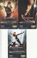 3 X Thailand Phonecard 12Call Anime Manga Movie Film Elektra - Kino