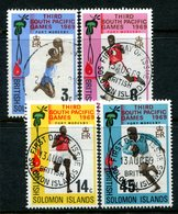 British Solomon Islands 1969 Third South Pacific Games Set Used (SG 184-187) - Islas Salomón (...-1978)