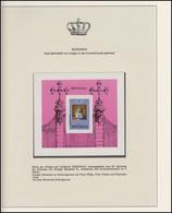 Redonda Jubiläum Elizabeth II. Krönung & Prinz Philipp, Block Mit Aufdruck ** - Case Reali