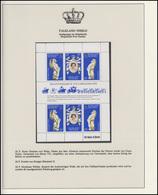 Falkland-Inseln Jubiläum Elizabeth II. Portrait & Drachen & Widder, Block ** - Case Reali