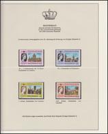 Montserrat Jubiläum Elizabeth II. Portrait & Kathedralen, 4 Marken ** - Royalties, Royals