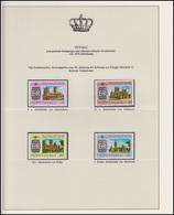 Tuvalu Jubiläum Elizabeth II. Britische Kathedralen, 4 Marken ** - Royalties, Royals