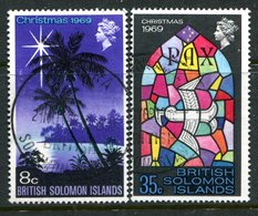 British Solomon Islands 1969 Christmas Set Used (SG 189-190) - Islas Salomón (...-1978)
