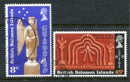 British Solomon Islands 1970 Christmas Set Used (SG 199-200) - Islas Salomón (...-1978)