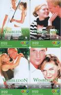 4 X Thailand Phonecard 12Call  Movie Film WIMBLEDON Tennis - Kino