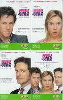 4 X Thailand Phonecard 12Call  Movie Film BRIDGET JONES - Kino