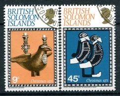 British Solomon Islands 1971 Christmas Set Used (SG 213-214) - Islas Salomón (...-1978)