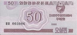 COREE DU NORD 50 CHON 1988 UNC P 34 - Korea, Noord