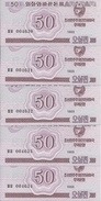 COREE DU NORD 50 CHON 1988 UNC P 34 ( 5 Billets ) - Korea, Noord