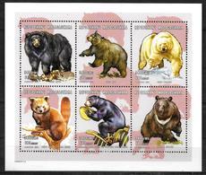 MADAGASCAR   Feuillet  N° 1826aa/af   * *   ( Cote 9e )   Ours Panda - Osos