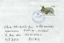 Almunecar 2000 - Agriades Zullichi Hemming 1933 - Schmetterling Bläuling - 1991-00 Cartas