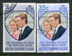 British Solomon Islands 1973 Royal Wedding Set Used (SG 245-246) - Islas Salomón (...-1978)