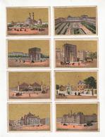 Chromo  LEE CACHIN  à Courville    Lot De 8     Vues De Paris     8.3 X 5.7 Cm     Chromos Gaufrés - Sonstige