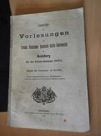 """1 Heft """"Anzeige Der Vorlesungen Der Uni Heidelberg"""" Von 1912 - Faire-part"""