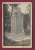 180520B - PHOTO ANCIENNE Cabinet - GUERRE 1914 18 Monument Aux Morts élevé Par Les Habitants De VIRIEU Cimetière ISERE - Virieu