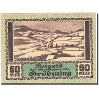 Billet, Autriche, Gröbming, 60 Heller, Montagne, 1920, 1920-12-31, SPL - Austria