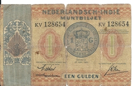 INDES NEERLANDAISES 1 GULDEN 1940 VG P 108 - Dutch East Indies