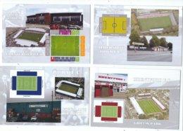 4 POSTCARD OF UK  FOOTBALL LEAGUE STADIUMS  LOT   TWELVE - Soccer