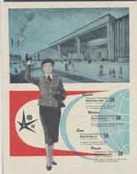 """Belgique - Bruxelles Exposition 1958 : Petite Affiche """"Bientôt L'exposition Unviverselle De Bruxelles"""" - Affiches"""
