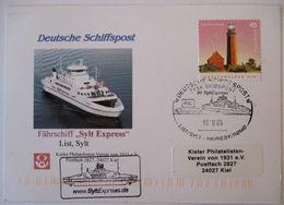 Schiffe Fährschiff Sylt Express Schiffspost 2005  - Maritime