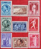 BODAVAN Pater Damiaan Vandevelde Bovesse Complete Set 1946 OBP 728-736 (Mi 760-768) Ongebruikt/MH BELGIE BELGIUM - Unused Stamps