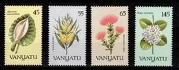 Vanuatu - YV 838 à 841 Complete N** Fleurs 1990 - Vanuatu (1980-...)