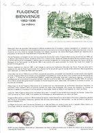 DOCUMENT FDC 1987 FULGENCE BIENVENÜE METRO PARISIEN - Documents Of Postal Services