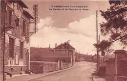 78-SAINT-REMY-LES-CHEVREUSES- LA POSTE ET LA RUE DE LA GARE - St.-Rémy-lès-Chevreuse